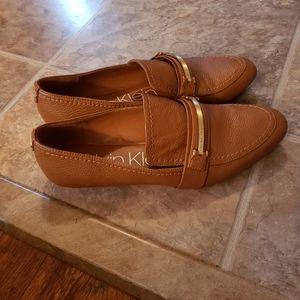 Calvin Klein Orianna Leather Loafers size 9